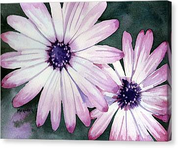 Double Daisy Canvas Print
