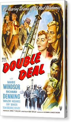 1950 Movies Canvas Print - Double Deal, Us Poster, Middle Right by Everett