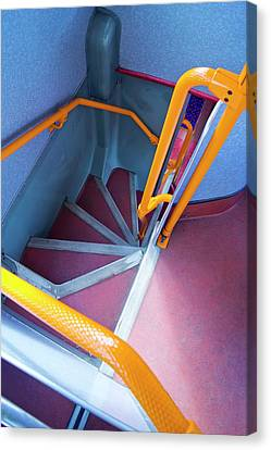 Double-decker Bus Stairs. Canvas Print
