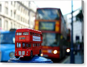 Double Deckers At Piccadilly Circus  Canvas Print
