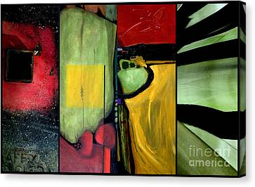 Double Diptychin' Canvas Print by Marlene Burns