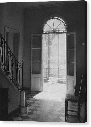 Double Doors In The Home Of Dr. Joseph Weis Canvas Print by Raymond Bret-Koch