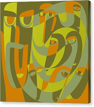 Double Exposure Of Existence, 2000 Acrylic On Board Canvas Print by Ron Waddams