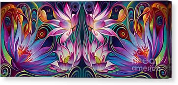 Double Floral Fantasy 2 Canvas Print by Ricardo Chavez-Mendez