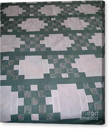 Double Irish Chain Quilt Canvas Print by Gail Matthews