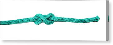 Double Overhand Stopper Knot Canvas Print by Photostock-israel