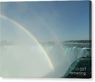 Canvas Print featuring the photograph Double Rainbow by Brenda Brown