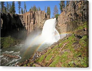 Double Rainbow Falls Canvas Print by Adam Jewell