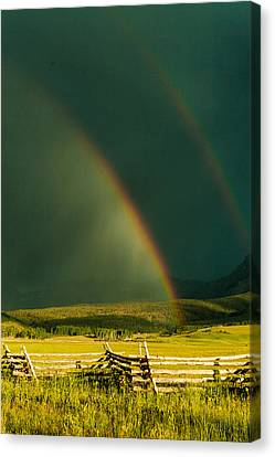 Double Rainbow Canvas Print by Jay Stockhaus