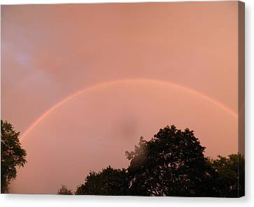 Double Rainbow Canvas Print by Kate Gallagher
