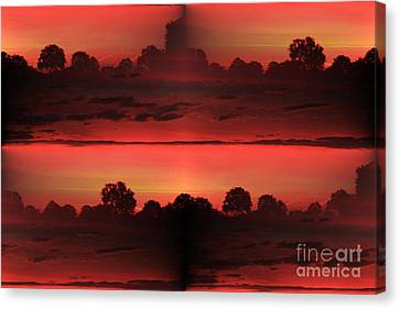 Double Red Sunrise Canvas Print