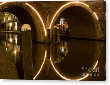 Canvas Print featuring the photograph Double Tunnel by John Wadleigh