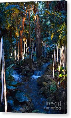 Double Waterfall Canvas Print by Edna Weber