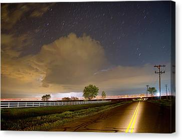 Double Yellow Storm Chase Canvas Print