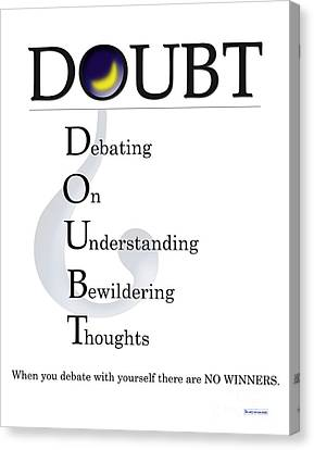 Doubt Buseyism - Original Artwork Canvas Print by Buseyisms Inc Gary Busey
