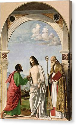 Doubting Thomas With St. Magnus Canvas Print