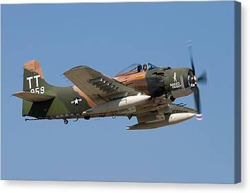 Douglas Ad-4 Skyraider Canvas Print