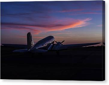 Murray Kentucky Canvas Print - Douglas Dc-3 Sunrise by Amber Kresge
