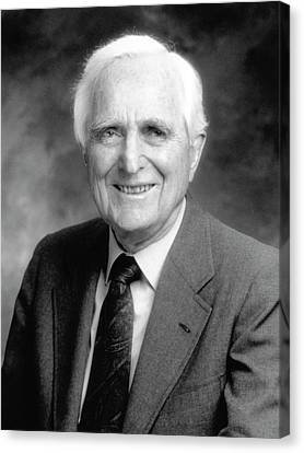 Douglas Engelbart Canvas Print by Emilio Segre Visual Archives/american Institute Of Physics