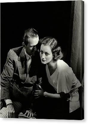 Douglas Fairbanks Jr. And Joan Crawford Canvas Print by Edward Steichen