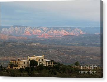 Douglas Mansion And Red Rocks Of Sedona Canvas Print