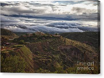 Douglas Mansion With A Sea Of Clouds Canvas Print