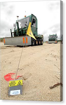 Dounreay Beach Radiation Monitoring Canvas Print by Public Health England