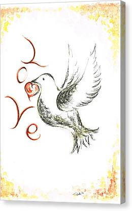 Dove Of Love Canvas Print by Teresa White