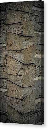 Dove Tailed Log Cabin Canvas Print by Paul Freidlund