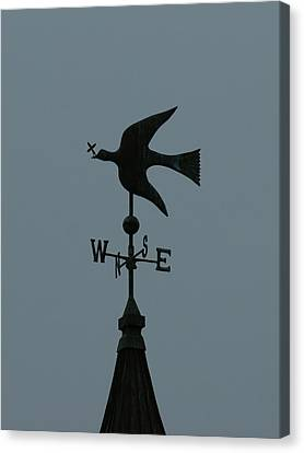 Dove Weathervane Canvas Print by Ernie Echols