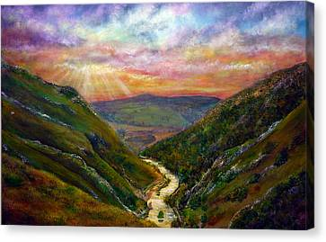Dovedale Sunset Canvas Print by Ann Marie Bone