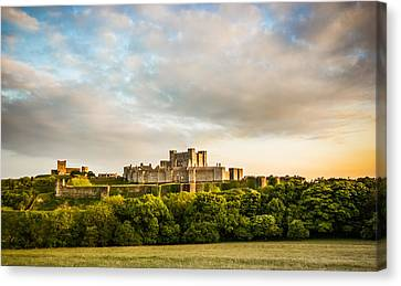 Dover Castle Sunset Canvas Print by Ian Hufton