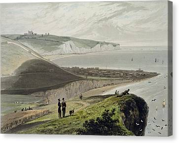 Coastal Canvas Print - Dover, From Shakespeares Cliff, From A by William Daniell