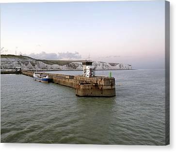 Dover Harbour, Uk Canvas Print