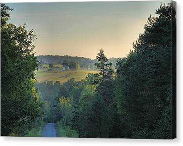 Down A Country Road Canvas Print by Steven Ainsworth