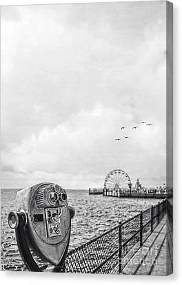 Down At The Pier Canvas Print by Edward Fielding