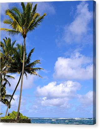 Canvas Print featuring the photograph Down By The Ocean In Hawaii by Lehua Pekelo-Stearns