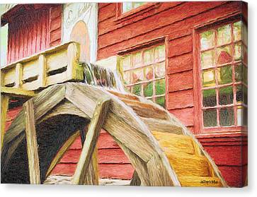 Down By The Old Mill Canvas Print by Jeffrey Kolker