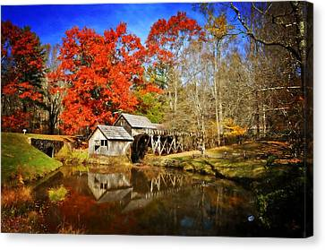 Down By The Old Mill Stream  Canvas Print by Lynn Bauer