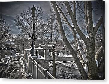 Canvas Print featuring the photograph Down By The River by Deborah Klubertanz