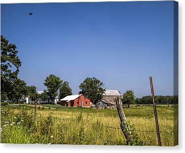Down Home Amish Farm Canvas Print by Kathy Clark
