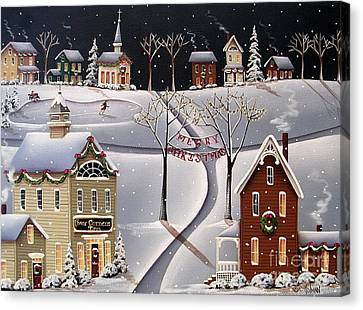 Down Home Christmas Canvas Print by Catherine Holman