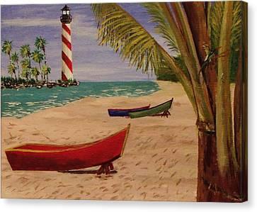 Down Jamaica Way Canvas Print by Mike Caitham