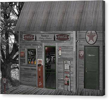 Grocery Store Canvas Print - Down Memory Lane by Barry Westmoreland