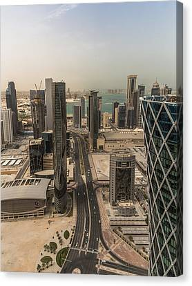 Down On Doha Canvas Print by Charlie Tash