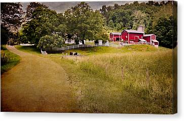 Down On The Farm Canvas Print by Bill Wakeley
