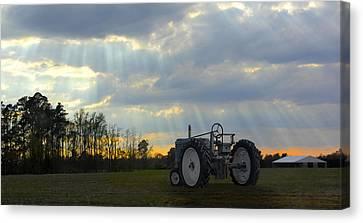 Down On The Farm Canvas Print by Mike McGlothlen