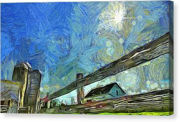 Down On The Farm Van Gogh Canvas Print by Dan Sproul