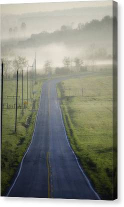 Down Roads Unknown Canvas Print by Bill Cannon