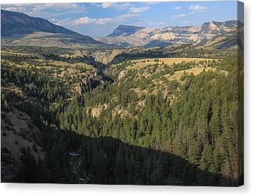 Down The Canyon Canvas Print